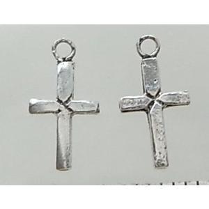 クロスパーツ8-079 2個で1セット 横幅5.82mm×高さ11.34mm シルバー925製 十字架|laplateriashu