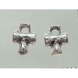 クロスパーツ8-080 2個で1セット 横幅5.94mm×高さ7.49mm シルバー925製 十字架|laplateriashu