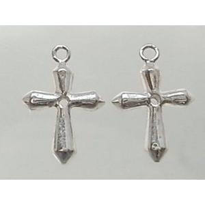 クロスパーツ8-081 1個売り 横幅9.62mm×高さ14.12mm シルバー925製 十字架|laplateriashu