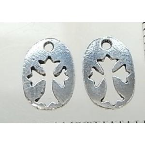 クロスパーツ8-096 2個で1セット 横幅6.68mm×高さ10.26mm シルバー925製 十字架|laplateriashu