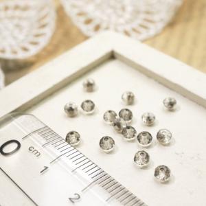 ボタンカットビーズ2.5x3.5mm グレー ガラスビーズ チェコビーズ アクセサリーパーツ|laplateriashu