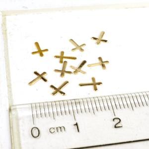 クロス 十字架  ゴールド プレート 10個1セット アクセサリーパーツ|laplateriashu