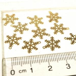雪の結晶 ゴールド  シルバー  10個1セット アクセサリーパーツ|laplateriashu