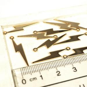 雷 稲妻 ゴールド 10個1セット アクセサリーパーツ|laplateriashu