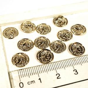 コイン 貨幣 ゴールド アンティークゴールド 真鍮古美 10個1セット アクセサリーパーツ|laplateriashu