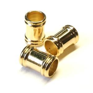真鍮ビーズ ツヤ バレル 筒 ゴールド 5gのグラム販売(10個入り) スタイリッシュ アクセサリーパーツ パーツ|laplateriashu
