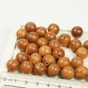 フィリピン製 ココナッツウッド ヤシの木 天然素材 丸玉 直径約13mm 約34個入り ブラウン ハンドメイドパーツ ウッドビーズ アクセサリーパーツ|laplateriashu