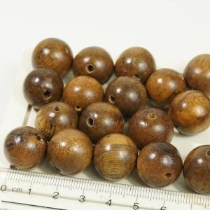 フィリピン製 天然素材 丸玉 直径約18mm 約24個入り ブラウン ピアスパーツ ネックレスパーツ ハンドメイド ウッド ビーズ アクセサリーパーツ|laplateriashu