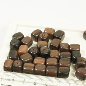 フィリピン製 ウッド 天然素材 丸角 長方形 約38個入り ブラウン ピアスパーツ ネックレスパーツ ハンドメイド ビーズ アクセサリーパーツ|laplateriashu