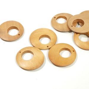 チャイナ製 ウッド 天然素材 幅約35mm 3個入り ラウンド ピアスパーツ ネックレスパーツ ハンドメイド ビーズ アクセサリーパーツ|laplateriashu
