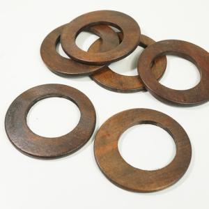 チャイナ製 ウッド 天然素材 幅約65mm 2個入り 丸型 ピアスパーツ ネックレスパーツ ハンドメイド ビーズ アクセサリーパーツ|laplateriashu