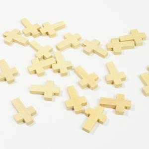 チャイナ製 ウッド 天然素材 20個入り クロス 十字架 ナチュラル  ピアスパーツ ネックレスパーツ ハンドメイド ビーズ アクセサリーパーツ|laplateriashu