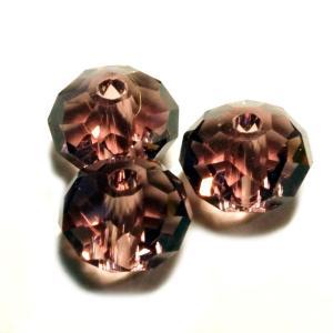 ガラスビーズ キラキラ 多面体 クリアパープル 紫色 3gのグラム販売(約12個入り)  アクセサリーパーツ パーツ laplateriashu