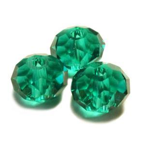 ガラスビーズ 多面体 グリーン 深緑色 3gのグラム販売(約12個入り) アクセサリーパーツ パーツ|laplateriashu