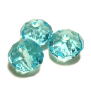 ガラスビーズ 多面体 ライトブルー クリア 青色 3gのグラム販売(約15個入り) アクセサリーパーツ パーツ|laplateriashu