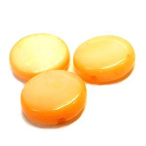シェルビーズ マーブル オレンジ 橙色 3gのグラム販売(約10個入り)  アクセサリーパーツ パーツ|laplateriashu