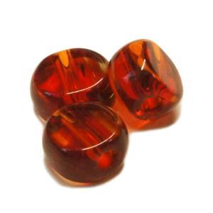 ガラスビーズ キラキラ ラウンド クリア レッド 赤色 3gのグラム販売(約12個入り)  アクセサリーパーツ パーツ laplateriashu