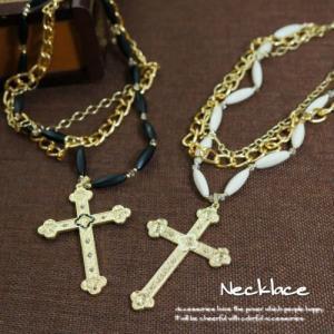 ネックレス 気品を持ち合わせる3連十字架ネックレス|laplateriashu