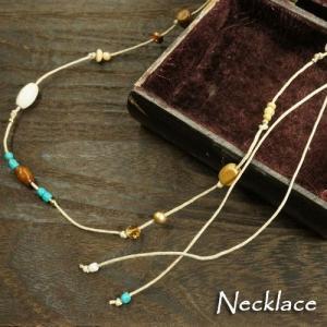 エスニック感溢れるたくさんのビーズが装飾されたネックレス|laplateriashu