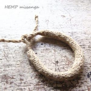 太めのシンプルヘンプ(麻)ミサンガ プロミスリング  |laplateriashu