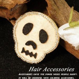 ハロウィンの必需品  可愛らしいドクロののヘアクリップ スリーピン ヘアピン ヘアアクセサリー 髑髏 スカル|laplateriashu