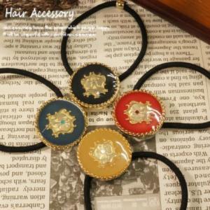 高貴な紋章がクールにキラリと輝くヘアゴム ヘアアクセサリー ヘアーアクセサリー|laplateriashu