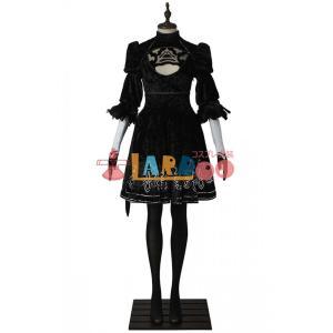 NieR:Automata ニーア オートマタ 2B ヨルハ二号B型 ブーツ+コスプレ衣装 激安 コスチューム ゲーム 仮装 cosplay|lardoo-store