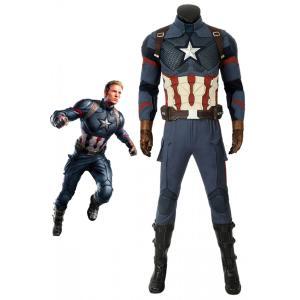アベンジャーズ/インフィニティ・ウォー キャプテン・アメリカ スティーブ・ロジャース 修正版 コスプレ衣装 コスチューム|lardoo-store