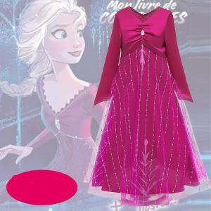 アナと雪の女王 アナと雪の女王2 エルサ Elsa ドレス 子供服 女の子 キッズ ワンピース おしゃれ コスチューム コスプレ衣装 仮装 ハロウィン cosplay|lardoo-store