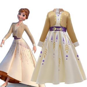 アナと雪の女王 アナと雪の女王2 Frozen アナ Anna ドレス 子供服 女の子 キッズ ワンピース おしゃれ コスチューム コスプレ衣装 仮装 ハロウィン|lardoo-store
