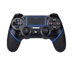 PS4 コントローラー 互換 ワイヤレス Bluetooth タッチパッド 加速度センサー 重力感応 6軸センサー イヤホンジャック付き PC Windows10対応 2021最新版 largo1991