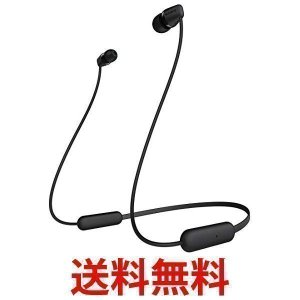 SONY ソニー ワイヤレスイヤホン WI-C200 BC Bluetooth対応/最大15時間連続再生/マイク付き 2019年モデル ブラック|largo1991