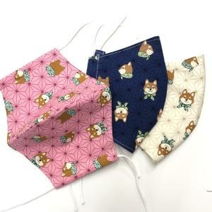 Lサイズ 鬼滅の刃風マスク 麻の葉 禰豆子 鬼滅の刃 日本製の布で自社縫製 女性〜男性サイズ larrys-company