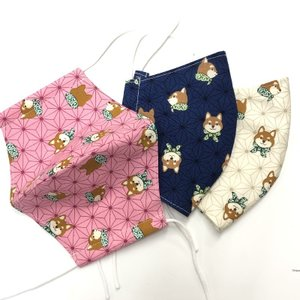 Sサイズ 鬼滅の刃風マスク 麻の葉 禰豆子 鬼滅の刃 日本製の布で自社縫製 子供サイズ larrys-company