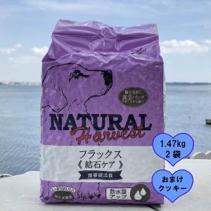 結石ケア用 食事療法食 ナチュラルハーベスト フラックス1.47KgX2袋ポイント10倍 おまけ付き|larrys-company