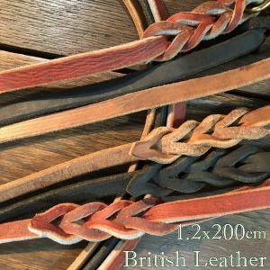 1枚革 幅1.2cmx長さ200cm バックスキン・レザーリード ラリーズカンパニーオリジナル 縫い目のないレザーリード しなやかな握り具合で力が入る Mサイズの太さ larrys-company
