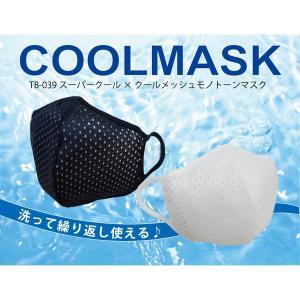 蒸れないマスク 涼しいマスク スーパークール×クール メッシュモノトーンマスク 2色2サイズ マスク(同サイズ2枚入り) larrys-company