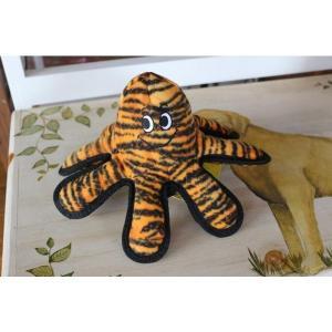 正規品 Tuffy 虎も遊ぶ強度 水に浮くおもちゃのTuffy MEGA メガクリーチャースのタコ タフィー 丈夫 大型犬用おもちゃ タフィ larrys-company