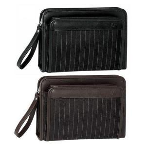 豊岡製鞄 カバン セカンドバッグ ヘリンボン織りストライプの三角ポーチL|lassana
