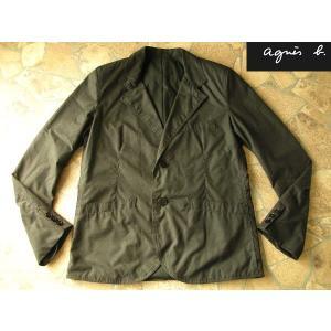 アニエスb  上質テーラードジャケット オイルクロス加工 ブラック Sサイズ|lastpass