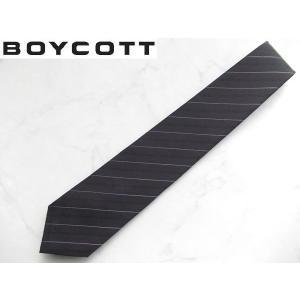 BOYCOTT (ボイコット) 上質ビジネスネクタイ ブラック|lastpass