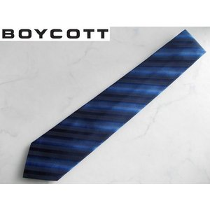 BOYCOTT (ボイコット) 上質ビジネスネクタイ ネイビー|lastpass