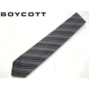 BOYCOTT (ボイコット) 上質ビジネスネクタイ グレー|lastpass