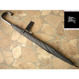 アウトレット品 BURBERRY バーバリー 紳士専用 雨傘 ブラックグレー|lastpass