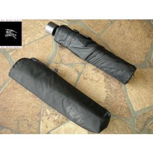BURBERRY バーバリー 紳士専用折り畳み傘 人気のブラック|lastpass