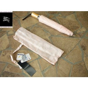 BURBERRY バーバリー 婦人専用 折り畳み日傘 紫外線防止加工♪ ピンク|lastpass