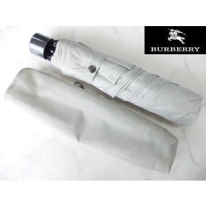 アウトレット品 BURBERRY バーバリー 紳士用折り畳み傘 グレー|lastpass