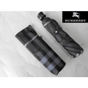 BURBERRY バーバリー 婦人用折り畳み傘 ブラックグレー|lastpass