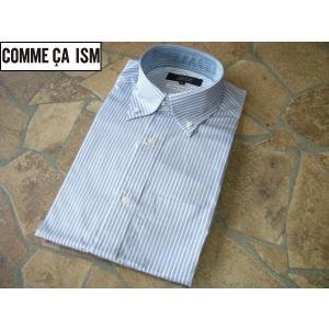 COMME CA ISM コムサイズム 細身ビジネスシャツ ストライプ Mサイズ lastpass
