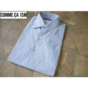 COMME CA ISM コムサイズム 細身ビジネスシャツ ストライプ Lサイズ lastpass